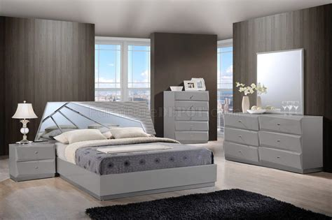 barcelona bedroom set in grey by global