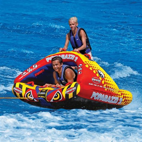 boat tubes on sportsstuff poparazzi 2 inflatable water 2 rider stand