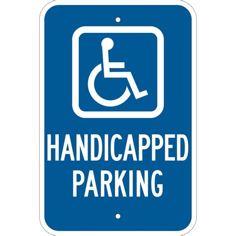 handicap parking sign template choice image templates