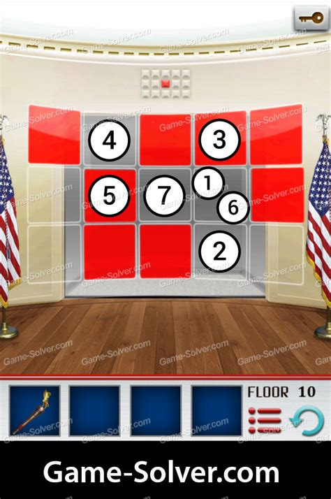 100 Floors Level 10 by 100 Floors World Tour Usa Pack Level 10 Solver
