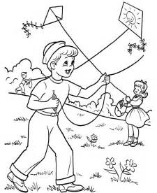 free printable kite coloring pages kids