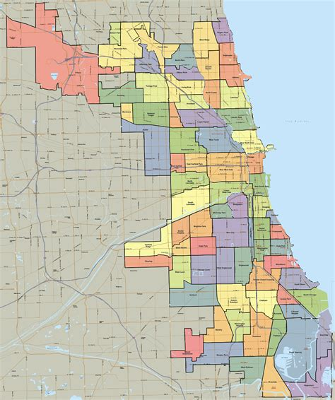 chicago map with neighborhoods neighborhoods of chicago