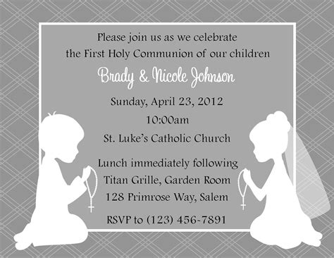 communion card templates free holy communion invitation templates
