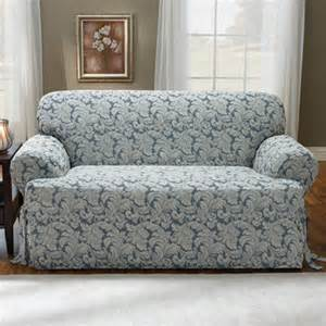 Skirted Chair Cushion Sure Fit Scroll Classic Loveseat T Cushion Skirted