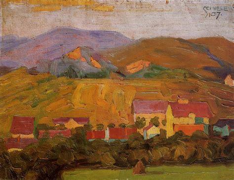 Village With Mountains Egon Schiele Wikiart Org