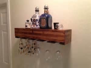 floating shelf floating shelves wine glass holder by