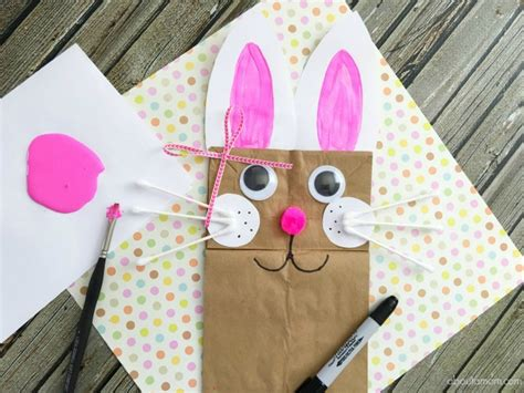 paper bag bunny template images templates design ideas