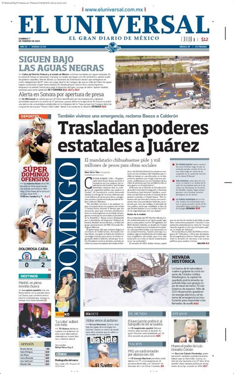 periodico el universal de mexico peru noticias periodicos new style for 2016 2017