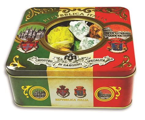 italian holiday cookies in a gift tin
