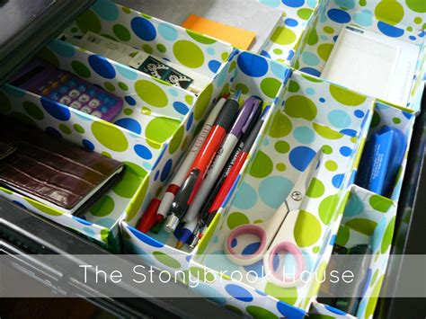 diy desk organizers diy cereal box drawer organizer the stonybrook house