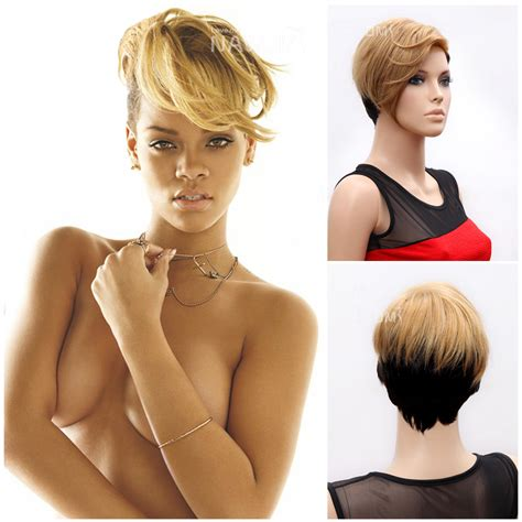 sexy styles for pubert hair 2014 fashion sexy rihanna wigs black mixed color hair 10
