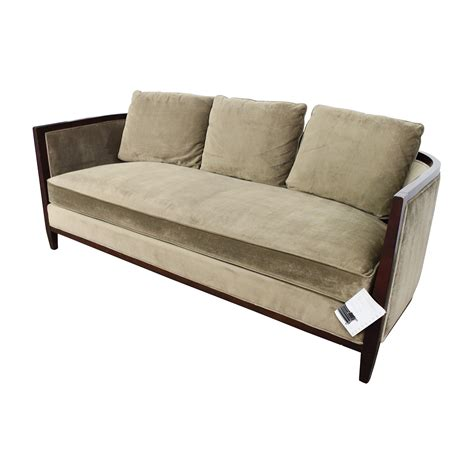 85 Off Bernhardt Bernhardt Tan Single Cushion Sofa Sofas One Cushion Sofa