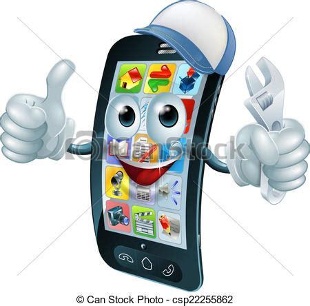 Mini Clip On Tele 2x clip vecteur de mobile t 233 l 233 phone r 233 paration