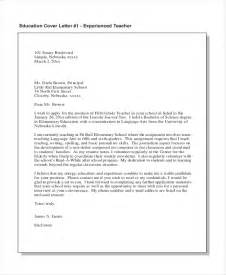 teaching cover letter with experience sle cover letter 15 free documents in pdf doc