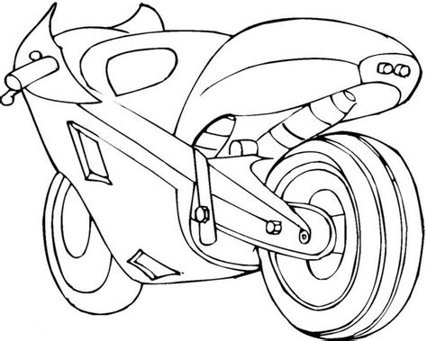 motorcycle coloring pages easy awesome cool motorcycle coloring pages for kids