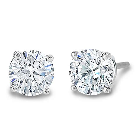 carat diamond stud earrings   gold   jewelry
