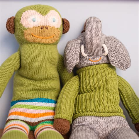 Elephant Cuddle Rug by Hercule Knit Doll By Blabla Rosenberryrooms