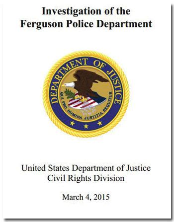 Department Of Affairs Judicial Section by Activists Justice Department Ferguson Report Can Go To Hell