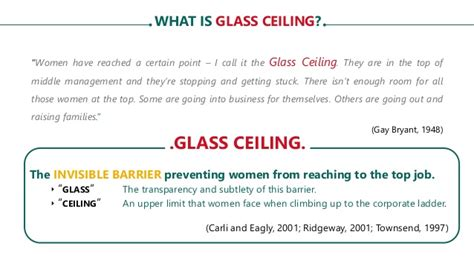 Glass Ceiling Theory Definition by Thesis Defense Effects Of Glass Ceiling Related