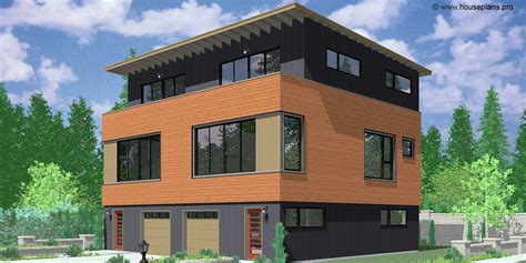 modern duplex plans modern town house plans duplex house plans sloping lot plans