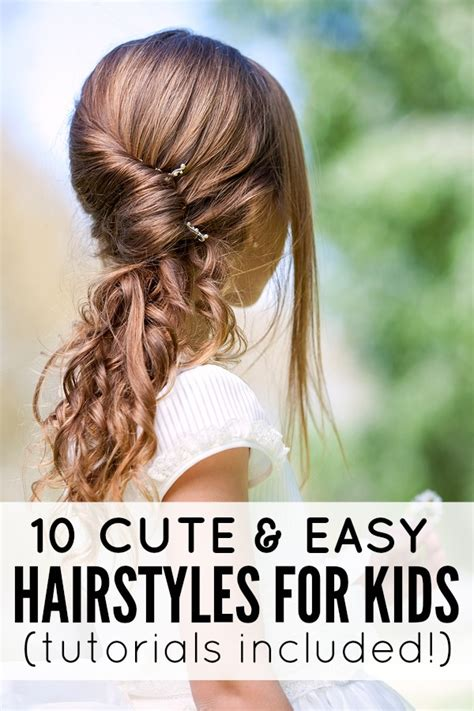 cute hairstyles for long hair for kids and for 8 year oldsfor short hair 10 cute and easy hairstyles for kids