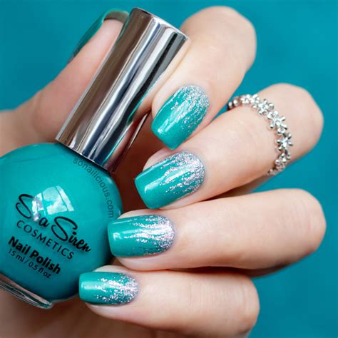 silver flames nail with sea siren jealousea