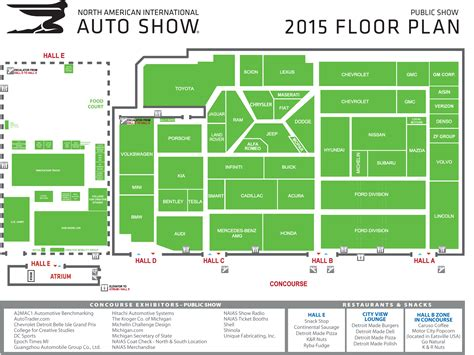 auto floor plan guide 2015 north american international auto show in