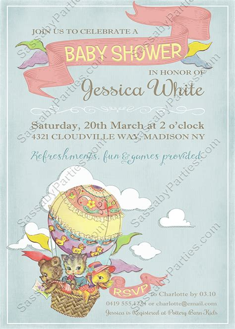 Up Up And Away Baby Shower by Up Up Away Baby Shower Invitation