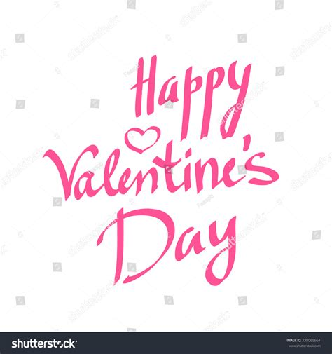 happy valentines day lettering happy valentines day lettering card vector stock vector