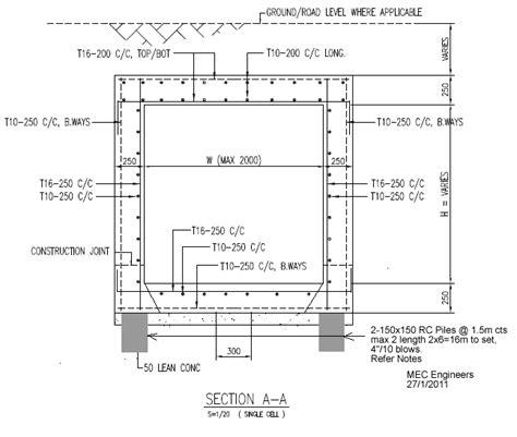 design criteria for box culvert mec engineers mec juara