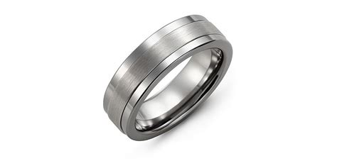 tungsten white gold band canadian jewelry exchange