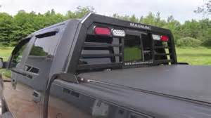 magnum truck rack installation with a tonneau cover