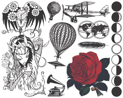 vintage rose tattoo designs and grey vintage tattoos designs