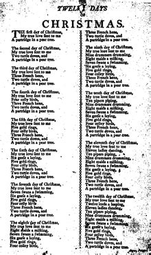 back number christmas song full the twelve days of christmas song wikipedia