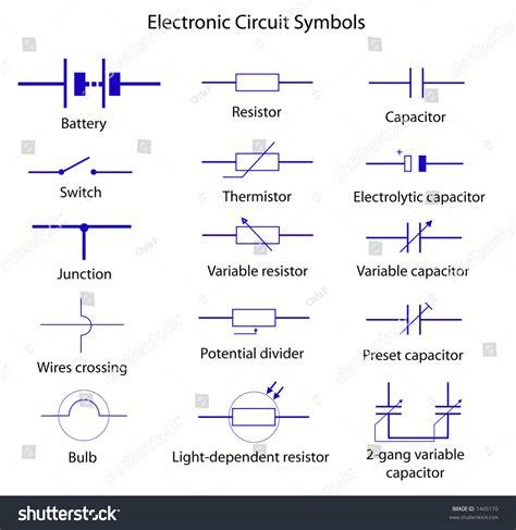 electronic circuit symbols stock vector 1445110