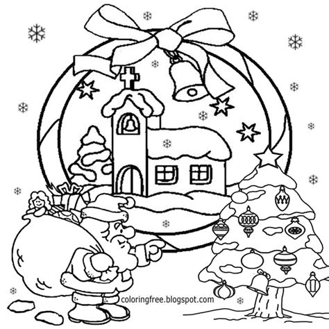 Free Coloring Pages Printable Pictures To Color Kids Santa Claus Tree Coloring Pages