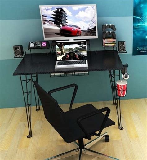 Modern Gaming Desk Pseat Gaming Tablesingle Row Modern Desk Entertainment Computer Table For Pc Xbox Ps4