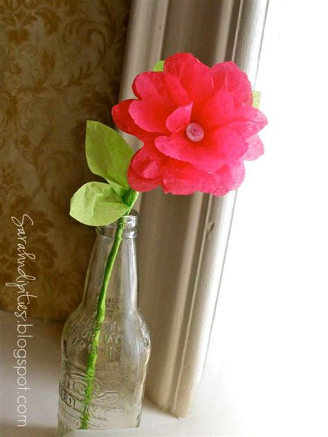 Flowers With Tissue Paper And Pipe Cleaner - sarahndipities fortunate handmade finds things to make
