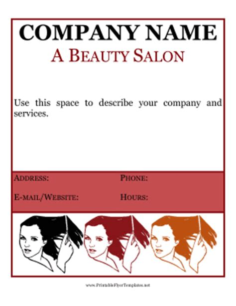 salon flyer templates free salon flyer