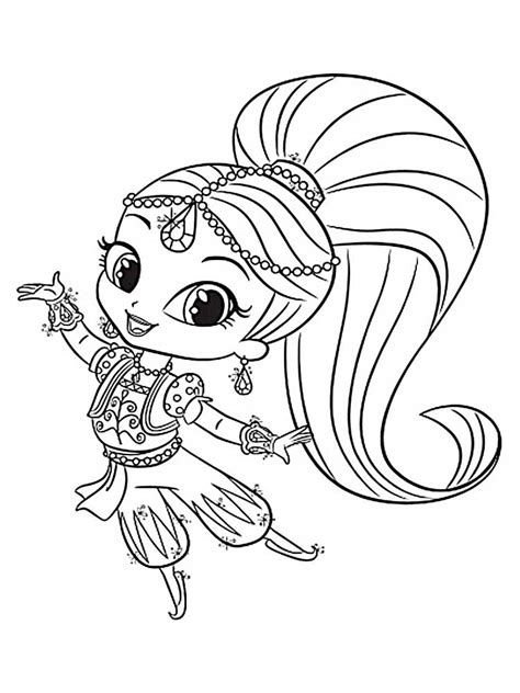 Shimmer And Shine Printables shimmer and shine coloring pages best coloring pages for
