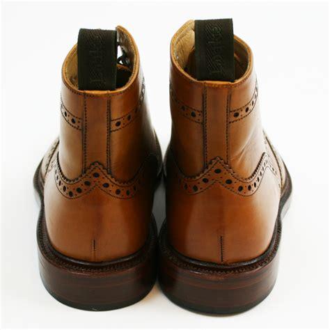 loake brogue boot burford mod shoes