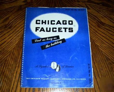 1950 chicago faucets catalog h vintage plumbing supply