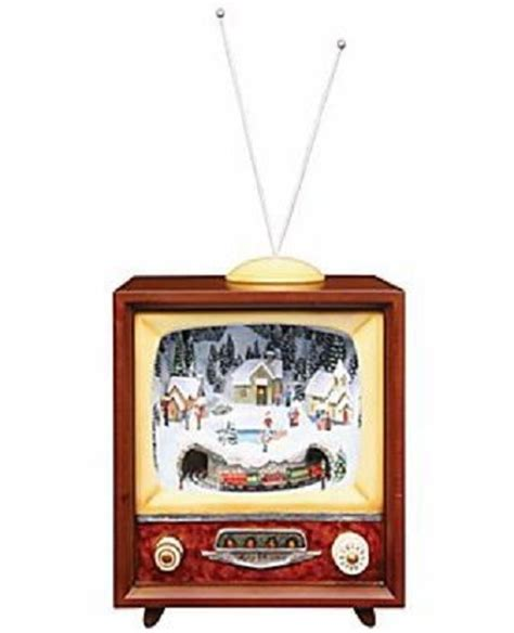 retro tv music boxes retro style tv with skating animated box 92002