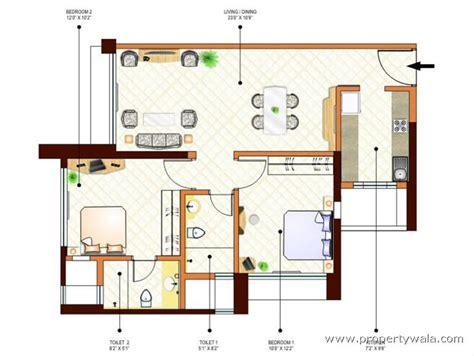 2 bhk floor plans peninsula ashok gardens parel mumbai residential
