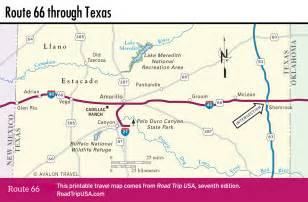 Route 66 Oklahoma Map by Texas Road Trip Usa