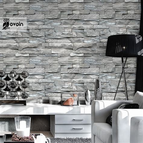 black and white kitchen wallpaper for sale aliexpress com buy grey white embossed brick wall