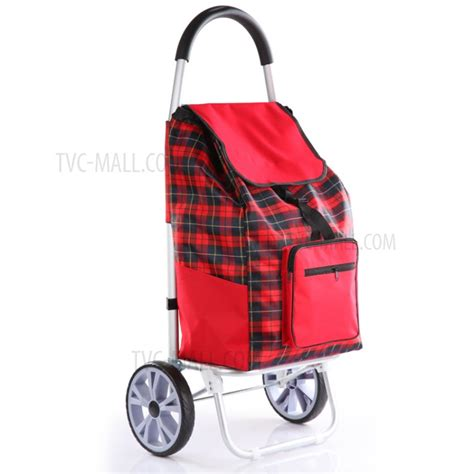 visitor pattern shopping cart grid pattern reusable foldable shopping cart trolley bag