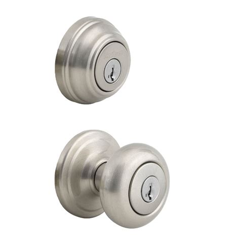 Schlage Door Knob And Deadbolt Set by Kwikset Juno Knob With Cylinder Deadbolt Combo Pack