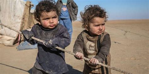 Child In The War suffering of children in war torn syria hits rock bottom