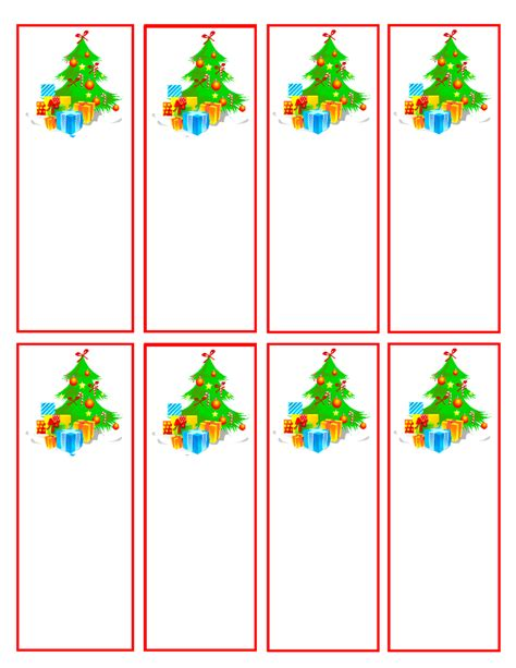 christmas bookmark templates christmas printable